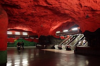 Solna centrum metro station - Image: 20130601 Stockholm Solna centrum Metro station 6879