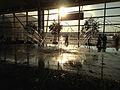 2014-08-30 19 05 30 Fountain at Detroit Metropolitan Wayne County Airport in Detroit, Michigan.JPG