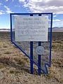 2014-10-08 14 46 49 Historic marker for Toquima Cave along Nevada State Route 376 (Austin-Tonopah Road) near U.S. Route 50 in Lander County, Nevada.JPG