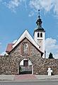 2014 Kamienica, kościół św. Jerzego, mur 11.JPG