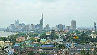 Economy of Nigeria - Image: 2014 Victoria Island Lagos Nigeria 15006436297