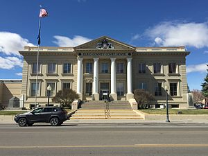 Elko County Courthouse - Image: 2015 03 25 13 37 39 The Elko County Court House on Idaho Street (Interstate 80 Business) in Elko, Nevada