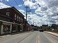 2016-06-06 14 35 47 View south along U.S. Route 220 and West Virginia State Route 28 and west along West Virginia State Route 55 (Virginia Avenue) between Grove Street and Main Street in Petersburg, Grant County, West Virginia.jpg