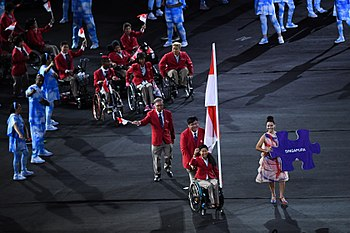 2016 Paralympics Parade of Nations Singapore