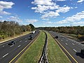 2017-10-30 13 22 21 View north along Interstate 95 from the overpass for Federal City Road in Lawrence Township, Mercer County, New Jersey.jpg