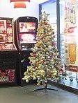 2017-12-15 Christmas Tree, Departure Hall, Norwich Airport.JPG