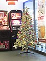 2017-12-15 Christmas Tree, Departure Hall, Norwich Airport.JPG