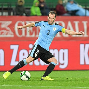 Diego Godín - Godín playing for Uruguay