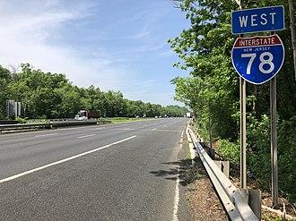 Warren Township, New Jersey - Interstate 78 in Warren Township