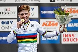 20180927 UCI Road World Championships Innsbruck Men Juniors Road Race Remco Evenepoel 850 0689.jpg