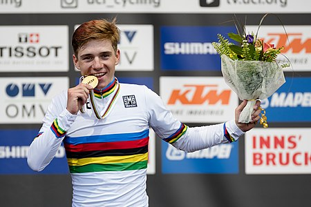20180927 UCI Road World Championships Innsbruck Men Juniors Road Race Remco Evenepoel 850 0689.jpg