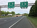 2019-05-21 17 46 04 View south at the south end of Interstate 97 (Patuxent Freeway) at its junction with Interstate 595, U.S. Route 50 and U.S. Route 301 (John Hanson Highway) in Greenwood Acres, Anne Arundel County, Maryland.jpg