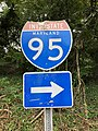 2019-07-17 17 16 13 Interstate 95 shield on Selford Road at Sulphur Spring Road along the edge of Arbutus and Catonsville in Baltimore County, Maryland.jpg