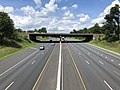 2019-07-18 13 18 53 View northwest along Interstate 695 (Baltimore Beltway) from the overpass for the ramp from Interstate 695 southeastbound to Interstate 95 northbound in Arbutus, Baltimore County, Maryland.jpg