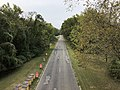 2019-09-11 16 05 03 View northwest along the southeastbound lanes of the Clara Barton Parkway from the overpass for Interstate 495 (Capital Beltway) in Potomac, Montgomery County, Maryland.jpg