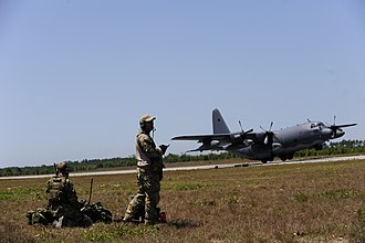 9th Special Operations Squadron - Squadron MC-130P takes off during Operation Nimble Response