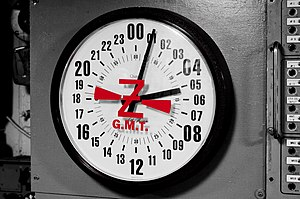24-Hour Clock Aboard the USS Midway (8727193240).jpg