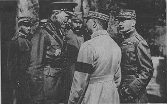 George Milne, 1st Baron Milne - Milne (left) with General Franchet d'Espèrey (centre) and General Henrys (right)