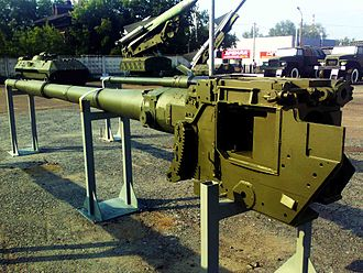 2A46 125 mm gun - 2A46M1 in Motovilikha Plants museum