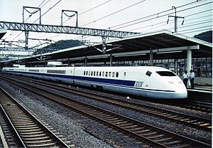 "300X - ""300X"" trainset on a daytime testrun at Maibara Station, July 1999"