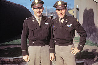 RAF Hethel - First Lieutenant Lucius R. Ades (Pilot) and Second-Lieutenant Preston G. Redd (Navigator) of the 389th Bomb Group.