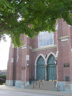 Centennial Neighborhood District - Image: 404 N 6th Street Trinity U Meth (Lafayette, Indiana)