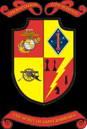 5th Battalion, 11th Marines - 5/11 Insignia