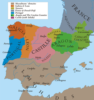 Kingdom of León - A map of the Kingdom of León in 1210