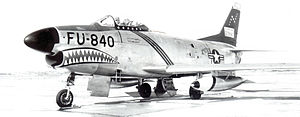 520th Fighter-Interceptor Squadron North American F-86D-40-NA Sabre 52-3840.jpg