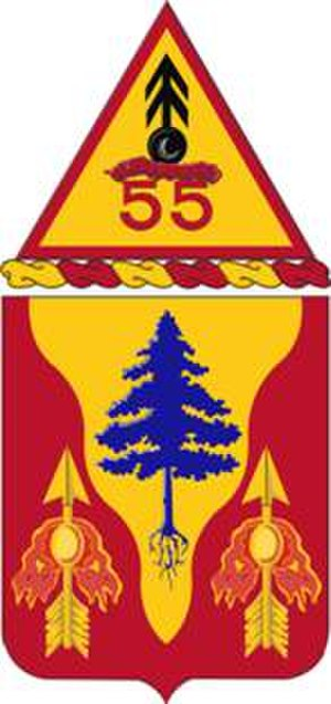 55th Air Defense Artillery Regiment - Coat of arms
