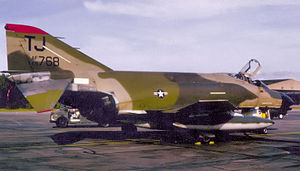 614th Tactical Fighter Squadron - McDonnell F-4D-31-MC Phantom 66-7768 Torrejon Air Base, Spain, 1978. Retired to AMARC as FP0476 Apr 3, 1990. Now on display at Bastrop, TX.