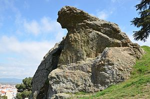 "Mount Sipylus - The ""Weeping Rock"" associated with Niobe in Mount Sipylus"