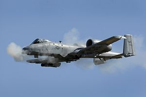 A-10 107th FS Michigan ANG firing gun 2010