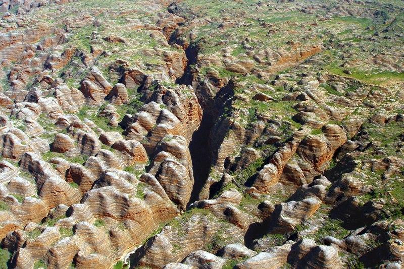 A202, Purnululu National Park, Western Australia, Bungle Bungles, from plane, 2007
