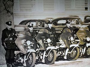Arlington County Police Department - ACPD motorcycles during the department's early years.
