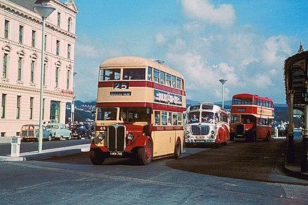 Bus Stop Flag bus vannin Isle of Man *Used* D