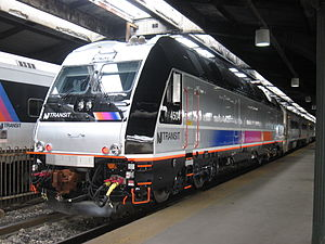 Commuter rail in North America - New Jersey Transit has an extensive commuter rail system connecting New Jersey to New York City and Philadelphia.
