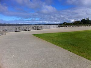 ANZAC Peace Park - Memorial Wall