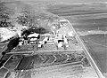 """AN AERIAL VIEW OF THE """"NESHER"""" CEMENT PLANT NEAR HAIFA. צילום אוויר של מפעל """"נשר"""" למלט, ליד חיפה.D420-162.jpg"""