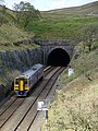 A Carlisle bound train just about to enter Blea Moor Tunnel (geograph 2547379).jpg