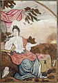 A European woman seated under a branch, with an owl (6125078454).jpg