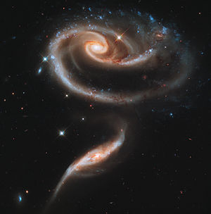 Rose (symbolism) - Image: A Rose Made of Galaxies Highlights Hubble's 21st Anniversary jpg