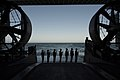 A U.S. Navy rifle detail prepares to fire a volley from the well deck during a burial at sea aboard the amphibious transport dock ship USS Anchorage (LPD 23) May 13, 2013, in the Pacific Ocean 130513-N-DR144-779.jpg