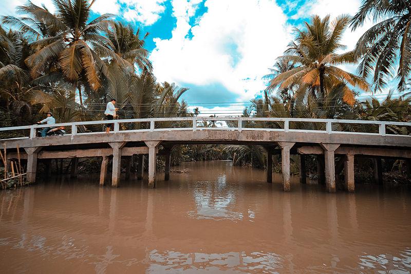 File:A bridge over Mekong River estuary in Mekong Delta Region, Southwestern Vietnam.jpg
