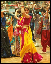 A dance and music celebration at Navaratri festival.jpg