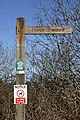 A footpath sign at Newtown St Boswells - geograph.org.uk - 1753515.jpg