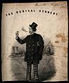 A foppish medical student smoking a cigarette, a tankard is on top of his medical books Wellcome V0010933.jpg