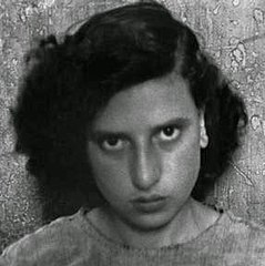 A girl, raped during the war, in the Albergo dei Poveri reformatory, Naples 1948 (cropped).jpg