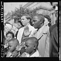 A nation's sorrow at the loss of President Franklin D. Roosevelt is reflected in the faces of thousands who lined the... - NARA - 520705.jpg