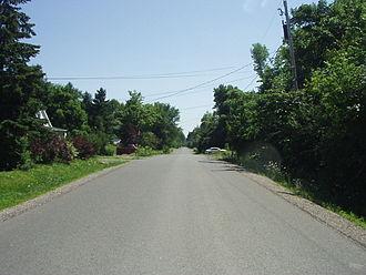 Aylmer, Quebec - An example of an Aylmer street, built before extensive housing developments.